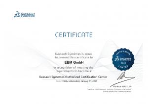 Zertifikat CERTIFICATION CENTER 2021