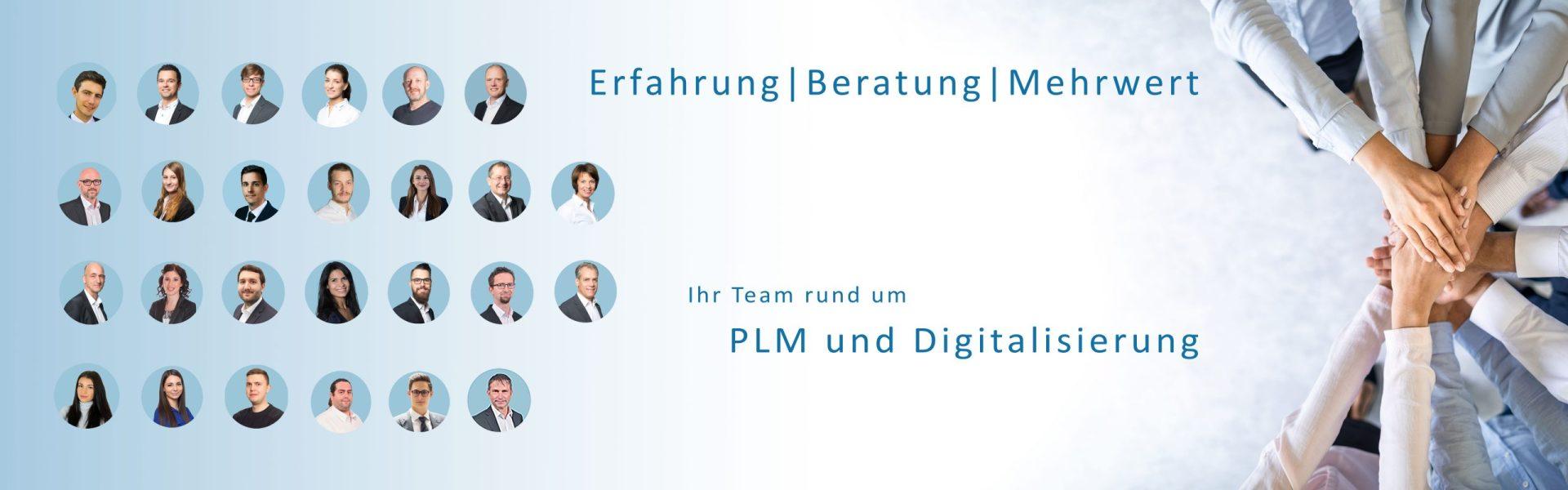 EBM Banner mit Team