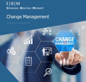 Deckblatt EBM Change Management Broschüre