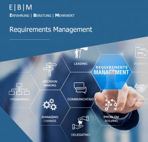 Deckblatt EBM Requirements Management Broschüre