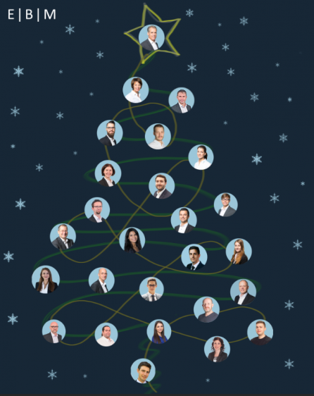 EBM Mitarbeiter als Weihnachtsbaumkugeln